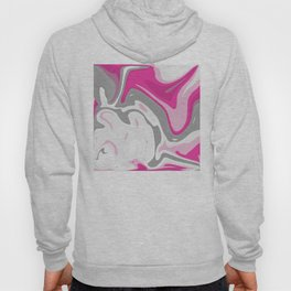Grey and Pink Liquid Marble Effect Design Hoody