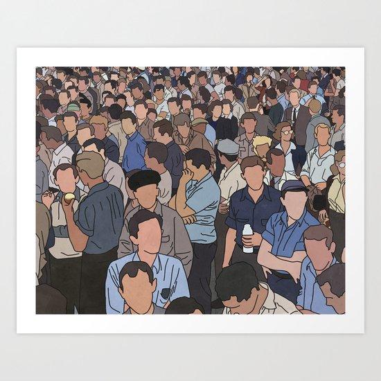 A Face in a Crowd Art Print