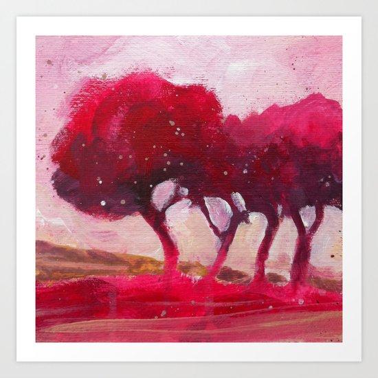 Rose trees Art Print