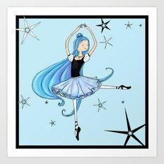 Snowflake Ballerina Art Print