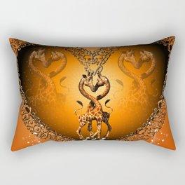Cute giraffe couple Rectangular Pillow