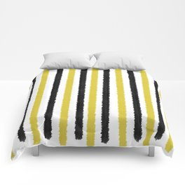Gold and Black Stripes Comforters