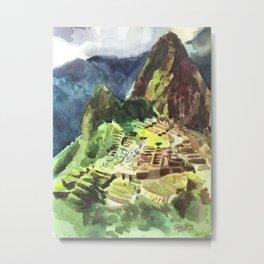 Machu Picchu Peru South America Metal Print