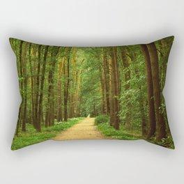 Forest path Rectangular Pillow