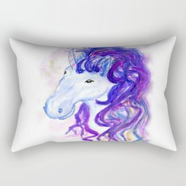 Fantasy unicorn portrait Rectangular Pillow