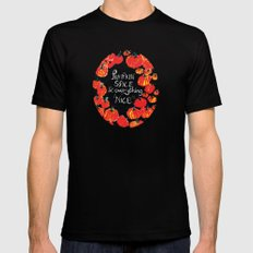 Pumpkin spice and everything nice MEDIUM Black Mens Fitted Tee