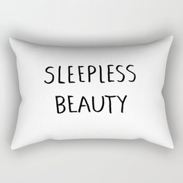 Sleepless Beauty Rectangular Pillow