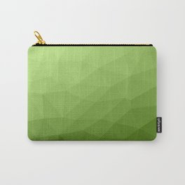 Greenery ombre gradient geometric mesh Carry-All Pouch