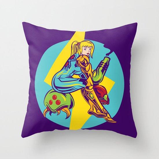 Femme Fatale Hunter  Throw Pillow