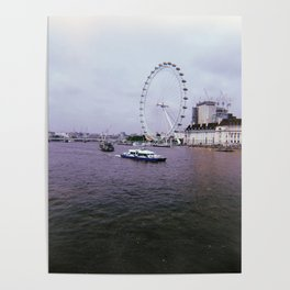 London Eye | Water | Photography | Filter | Vintage tone Poster