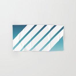 White Stripes Blue Gradient Hand & Bath Towel
