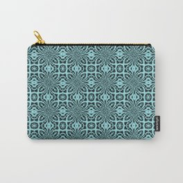 Island Paradise Geometric Floral Abstract Carry-All Pouch