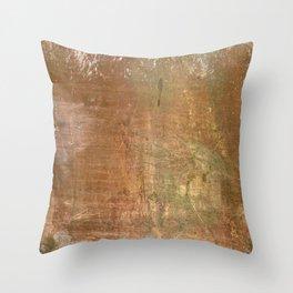 Seppia Copper Throw Pillow