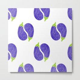 pattern eggplant Metal Print