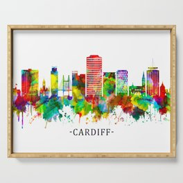Cardiff Wales Skyline Serving Tray