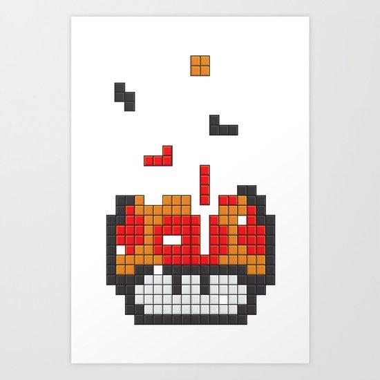 Super Mario Mushroom Tetris Art Print