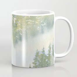 Misty Fog in Pine Forest Coffee Mug