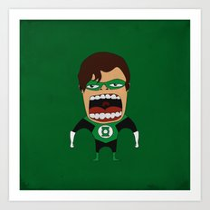 Screaming Green Lantern Art Print