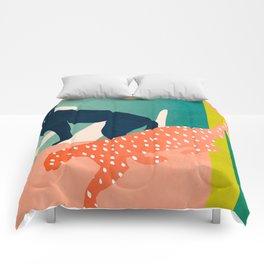 tropical cats Comforters