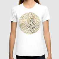 gold T-shirts featuring Gold Ivy by Cat Coquillette