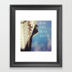 Upside Down Inspiration Framed Art Print