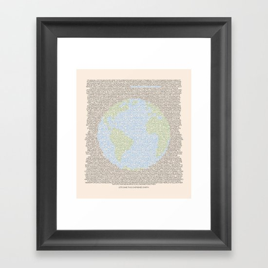 Environmental Consciousness Framed Art Print