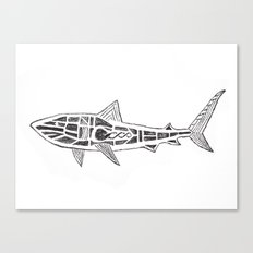 Shark Twist Canvas Print
