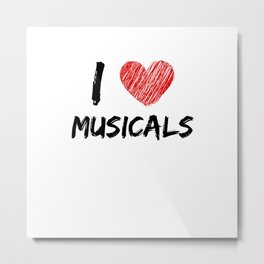 I Love Musicals Metal Print
