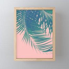 Palm Leaves Blush Summer Vibes #2 #tropical #decor #art #society6 Framed Mini Art Print