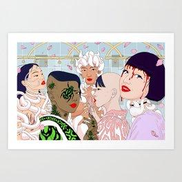 Villains at the spa Art Print