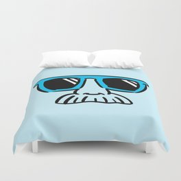 Too Cool (cyan) Duvet Cover