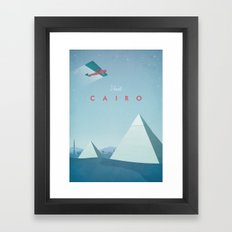 Cairo - Vintage Travel Poster Framed Art Print
