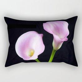 Dance Of Two Pink Calla Lilies Rectangular Pillow