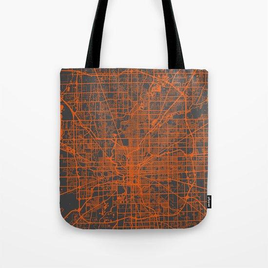 Indianapolis map Tote Bag