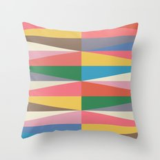Blooming Triangles Throw Pillow