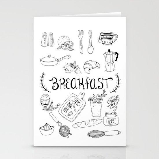 Breakfast Stationery Cards