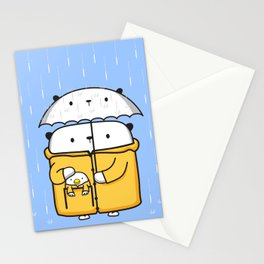 Opi y Kipi en la lluvia Stationery Cards
