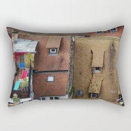 Colorful corner on roof Rectangular Pillow