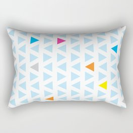 Triangle Columns Rectangular Pillow