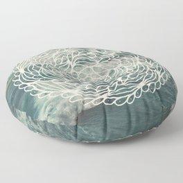 Mandala Ocean Waves Floor Pillow