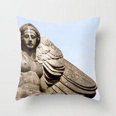 Winged Woman Throw Pillow