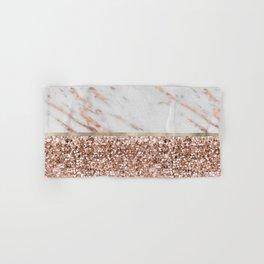 Warm chromatic - rose gold marble Hand & Bath Towel