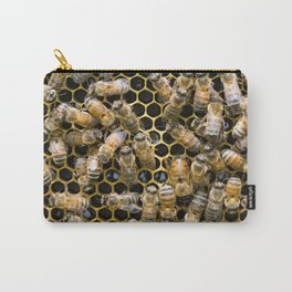 Bee Comb Carry-All Pouch