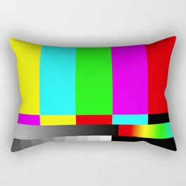 SMPTE Television TV Color Bars Rectangular Pillow