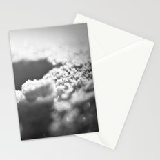 Snow Black and White Stationery Cards