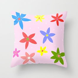 Flowers in the Funk Throw Pillow