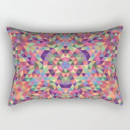 Colorful Triangle Mandala Rectangular Pillow
