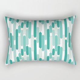 Modern Tabs in Mint Greens Rectangular Pillow