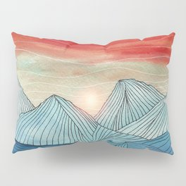 Lines in the mountains IV Pillow Sham