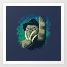 Sloth Freddy Art Print